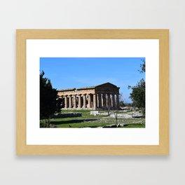 templi di paestum Framed Art Print