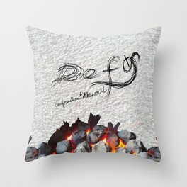 Defy conformationtotheworld Throw Pillow
