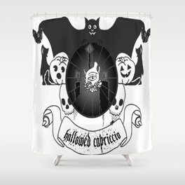 Hallowed Capriccio Logo (White Background) Shower Curtain