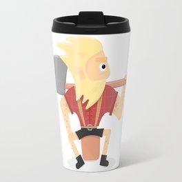 Lumberjack illustration. Travel Mug