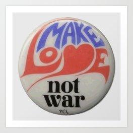Make Love Not War Hippie Trippy 60s Peace Art Art Print