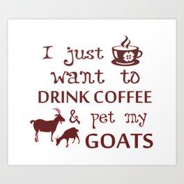Coffee & Goats Art Print