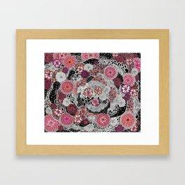 Tangled up in Blooms Framed Art Print