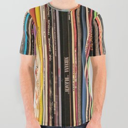 Alternative Rock Vinyl Records All Over Graphic Tee