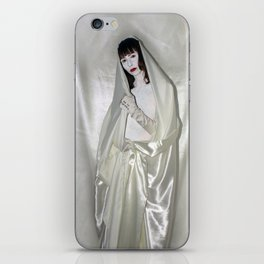 "say no to patriarchy / ""the madonna"" iPhone Skin"