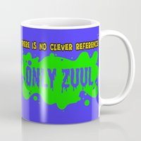 ghostbusters Mugs featuring ONLY ZUUL  |  Ghostbusters by Silvio Ledbetter