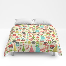 Hidden Mouse Ears Colorful Retro Inspired Christmas Comforters
