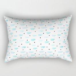 Mint and Black Dots by Minikuosi Rectangular Pillow