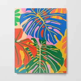 She Always Wears Neutrals But Has The Most Colorful Mind #painting #botanical Metal Print