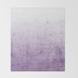 Radiant Orchid Purple Ombre  Throw Blanket