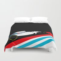 f1 Duvet Covers featuring Fw36  by Cale Funderburk
