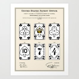 Playing Cards Patent Art Print
