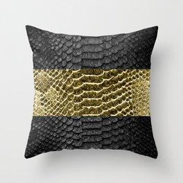 Black Mamba Skin Throw Pillow