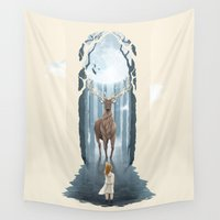 redhead Wall Tapestries featuring Knowing the Nature II by Rafapasta