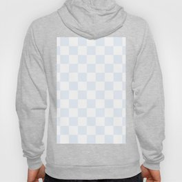 Checkered - White and Pastel Blue Hoody