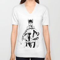 batgirl V-neck T-shirts featuring Batgirl by MKilness