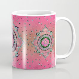 India Pink Mandala Pattern Coffee Mug