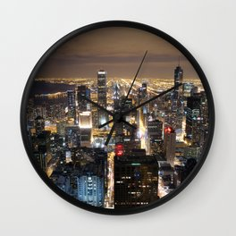 Chicago by night Wall Clock
