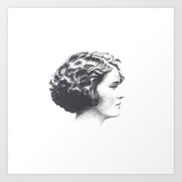 A portrait of Zelda Fitzgerald Art Print