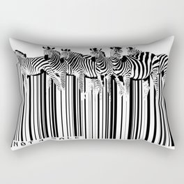 Zebra Barcode Rectangular Pillow