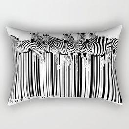Zebra Barcode Rectangular Pillow
