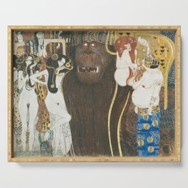 Beethoven Frieze Gustav Klimt Serving Tray