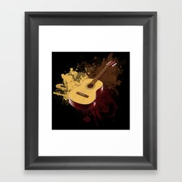 GUITAR DROPS Framed Art Print