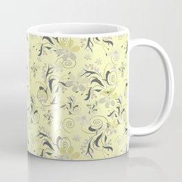 Gently yellow flowers on lemon yellow Coffee Mug