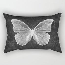 Butterfly in Black Rectangular Pillow