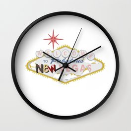 Welcome To Fabulous New Vegas Wall Clock