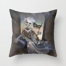 Catrina in Waiting Skeleton Large Format Throw Pillow