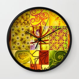 JAUNE COLLAGE Wall Clock