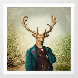 Lord Staghorne in the wood Art Print