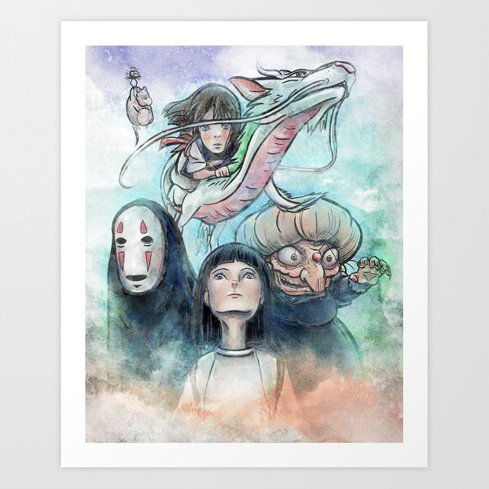 Spirited Away Watercolor Painting Art Print By Jollyappleskull Society6