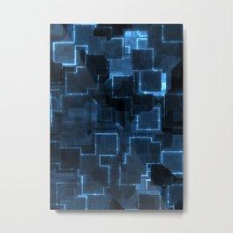 Cyber blue glow Metal Print