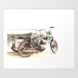 Pedicab Art Print
