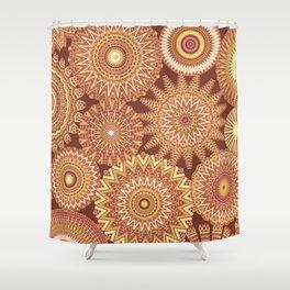 Kaleidoscopic-Canyon colorway Shower Curtain