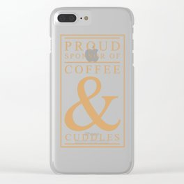 Coffee and Cuddles Graphic T-shirt Clear iPhone Case