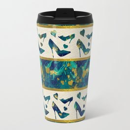 Gold and Marble High Heels Travel Mug