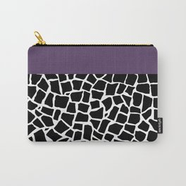 British Mosaic Purple Boarder Carry-All Pouch