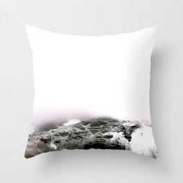 Winter comes to mountains Throw Pillow