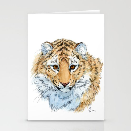 Young Sweet Tiger Stationery Cards