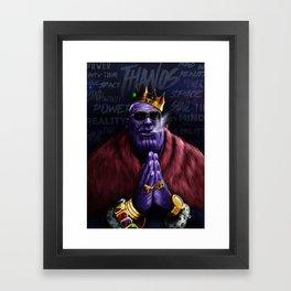 Thanos - Infinite Succes Framed Art Print