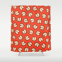 Fortune Cookie Pattern Shower Curtain