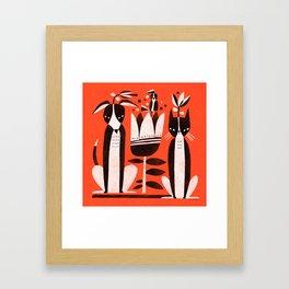 TUXEDO FRIENDS Framed Art Print