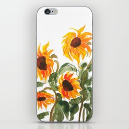sunflower watewrcolor 2018 iPhone Skin