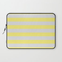 Yellow & Gray Stripes Laptop Sleeve