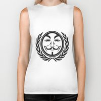 community Biker Tanks featuring Anonymous community by Komrod