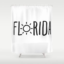 Florida Sun Shower Curtain