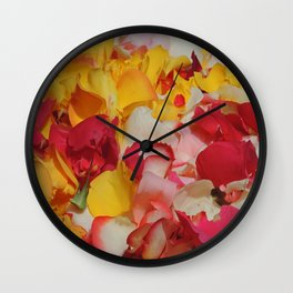 Rose Petals in Cuenca Wall Clock